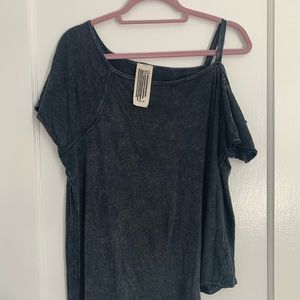 Free People Asymmetrical T-Shirt